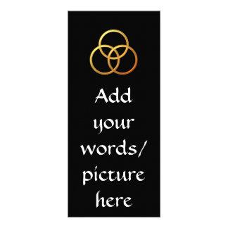 "Golden ""3-D"" Trinity Symbol Rack Card"