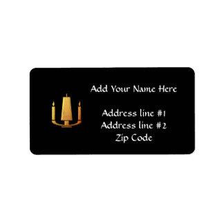 """Golden """"3-D"""" Unity Candle Label"""