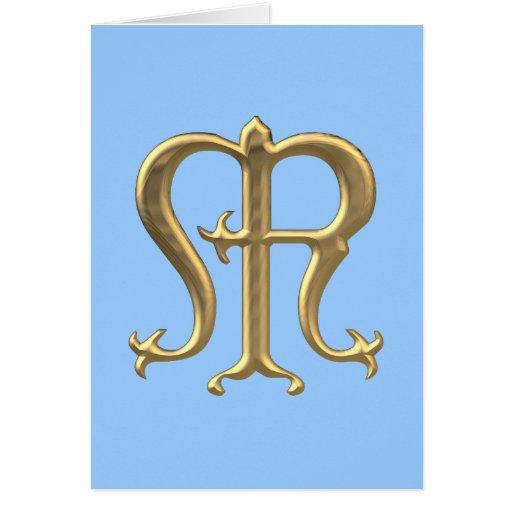 "Golden ""3-D"" Virgin Mary Symbol Greeting Card"