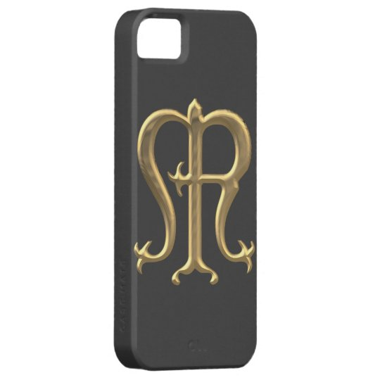 "Golden ""3-D"" Virgin Mary Symbol iPhone SE/5/5s Case"