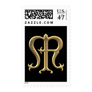 "Golden ""3-D"" Virgin Mary Symbol Postage"