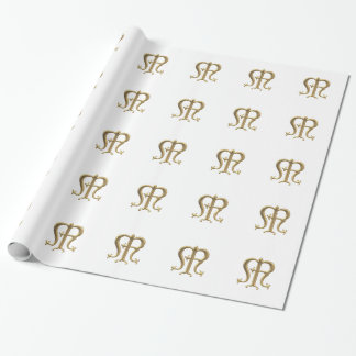 "Golden ""3-D"" Virgin Mary Symbol Wrapping Paper"