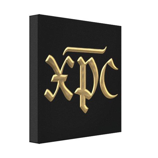 """Golden """"3-D"""" XPC symbol Canvas Print"""