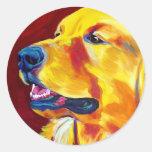 Golden #4 round stickers