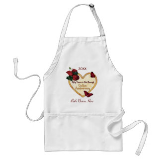 Golden 50 Anniversary Adult Apron