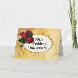 Golden 50 Anniversary Card