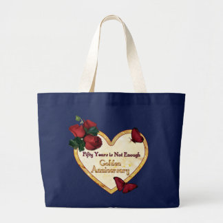Golden 50 Anniversary Large Tote Bag