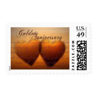 Golden 50 year anniversary Postage stamp