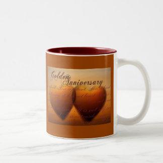 Golden 50 year anniversary Two-Tone coffee mug