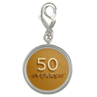 Golden 50 Years Charm