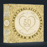 """Golden 50th Anniversary Custom Gift Binder<br><div class=""""desc"""">Golden 50th anniversary custom gift binder. Great for photos,  scrapbooking,  memoirs,  poems,  stories and more.</div>"""