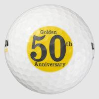 Golden 50th Anniversary Golf Ball