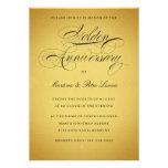 Golden 50th Anniversary Invitation  Black & Gold