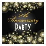 Golden, 50th Anniversary Invitations