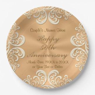 50th Anniversary Plates Zazzle