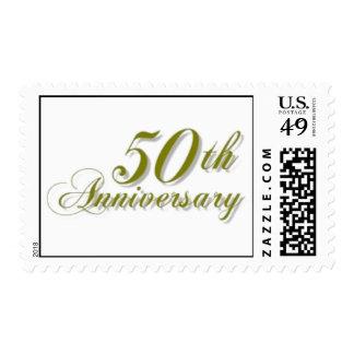 Golden 50th Anniversary Stamp