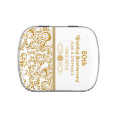 Golden 50th Wedding Anniversary Candy Tins at Zazzle