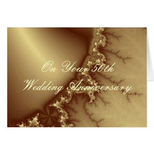 Golden 50th Wedding Anniversary Greeting Card