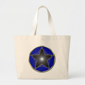 Golden 5 Point Star 2 Canvas Bags