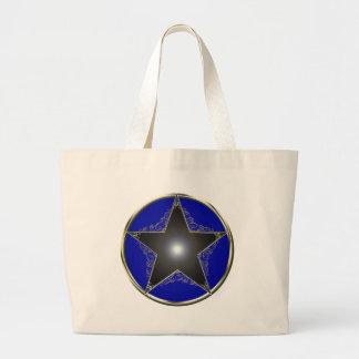 Golden 5 Point Star 2 Large Tote Bag