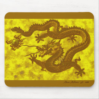 Golden 5-Toed Dragon Mousepad