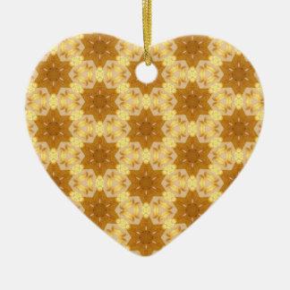 Golden 6 Point Stars for Hanukkah Ceramic Ornament