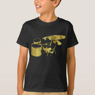 Golden Abstract Drums Kids Shirt