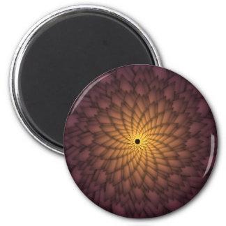 Golden Abstract Flower Magnet