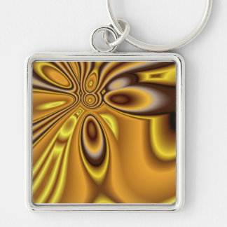 Golden Abstract ~ keychain 2