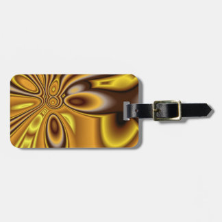 Golden Abstract Luggage tag