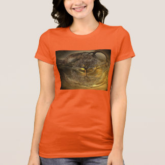 Golden Abstract Tree T-Shirt