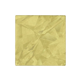 Golden abstract triangles stone magnet