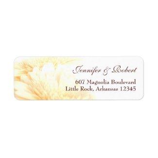 Golden Address Label