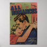 """Golden Age Comic Art - All Romances Poster<br><div class=""""desc"""">All Romances vintage comic strip</div>"""