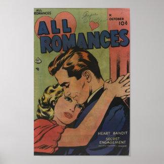 Golden Age Comic Art - All Romances Posters