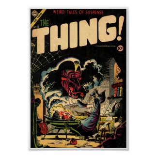 Golden Age Comic Art - The Thing Poster