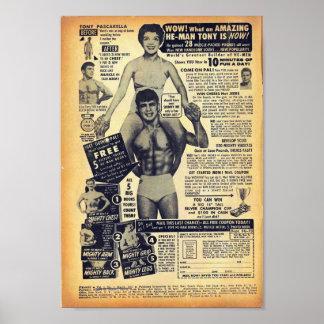 Golden Age Comic Art - Vintage Bodybuilding Advert Print