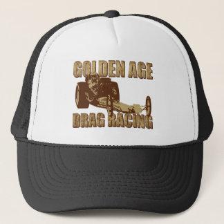 golden age drag racing digger dragster trucker hat