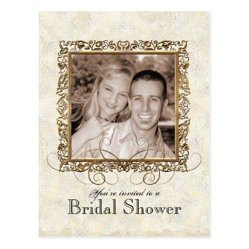 Golden Age of Elegance, Bridal Shower Invitation Postcard