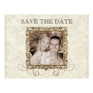 Golden Age of Elegance, Save the Date Postcard