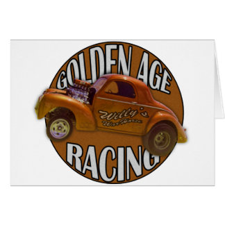 Golden Age Willys Gasser Drag Racing Gold Card