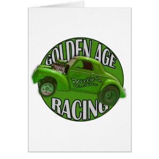 Golden Age Willys Gasser Drag Racing Lime Card