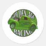 Golden Age Willys Gasser Drag Racing Lime Sticker
