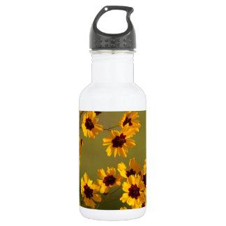 Golden Alabama Coreopsis tinctoria Wildflowers 18oz Water Bottle