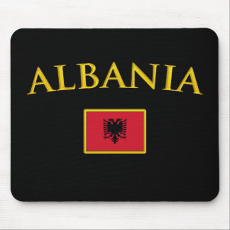 Golden Albania Mouse Pad