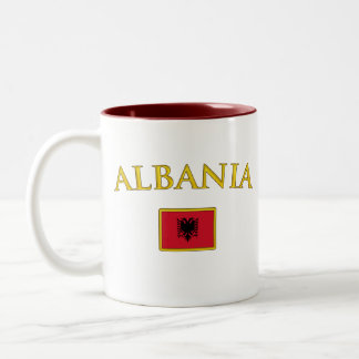 Golden Albania Two-Tone Coffee Mug