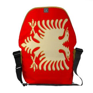 Golden Albanian Eagle Messenger Bag