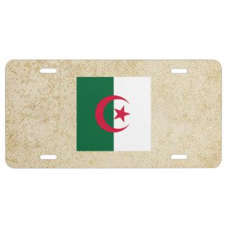 Golden Algeria Flag License Plate