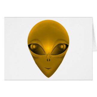 GOLDEN ALIEN CARD
