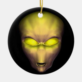 Golden Alien Ceramic Ornament